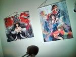 Wall scrolls, Kongou (Left) and Hakurei Reimu (Right)